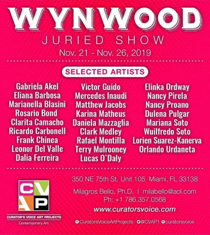 Wynwood Juried Show Fall edition 2019