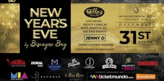 New Year's Eve by Biscayne Bay at the Intercontinental Hotel Miami Downtown