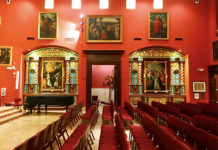 The Chapel of Our Lady of La Merced in Miami. View of its interior