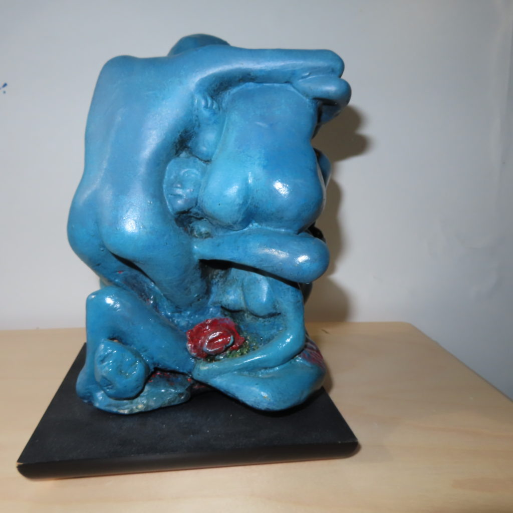 Gary Sterba Humanity, 2018 sculpture colored resign 12x8x8 inches
