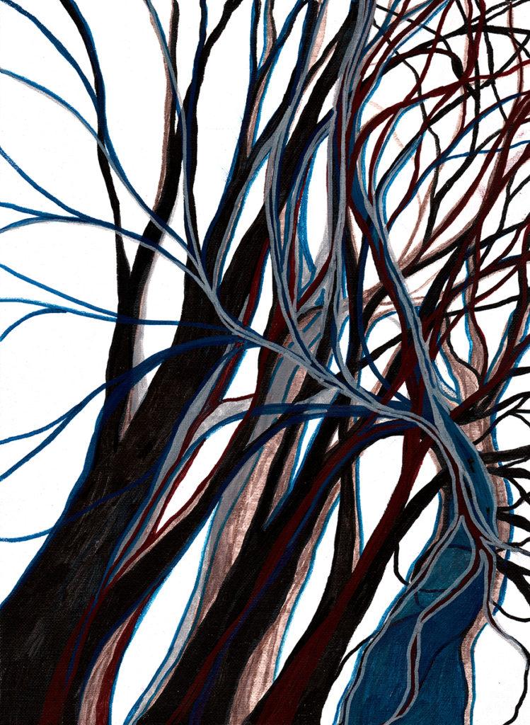 Lorien Suarez-Kanerva Wooded Terrain Study # 1, 2021