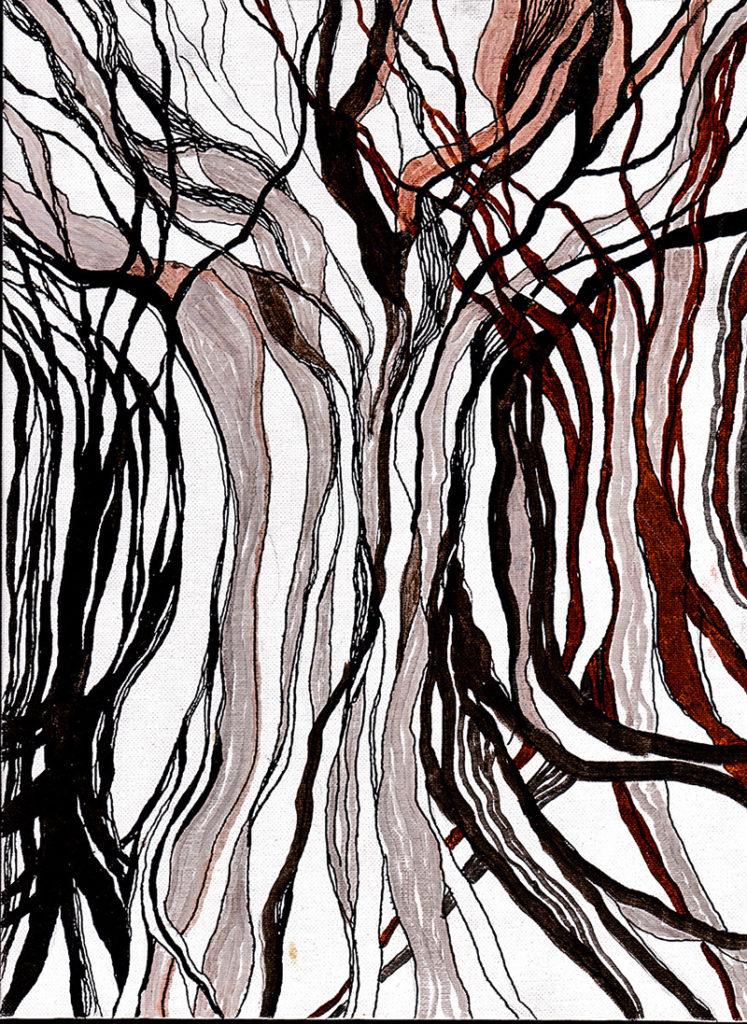 Lorien Suarez-Kanerva Wooded Terrain Study #8, 2021