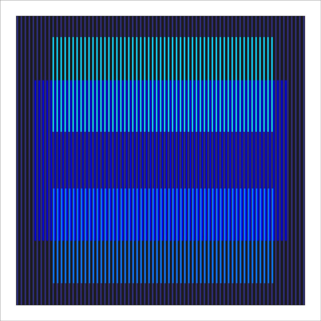 Wuilfredo Soto Untitled 2, Post-Kinetic Series 2018 acrylic on canvas 40x40 inches
