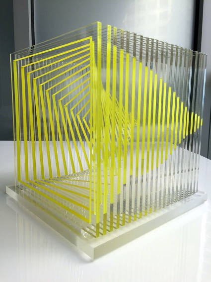 Wuilfredo Soto Infinity in Yellow, 2015 Laser cut painted acrylic