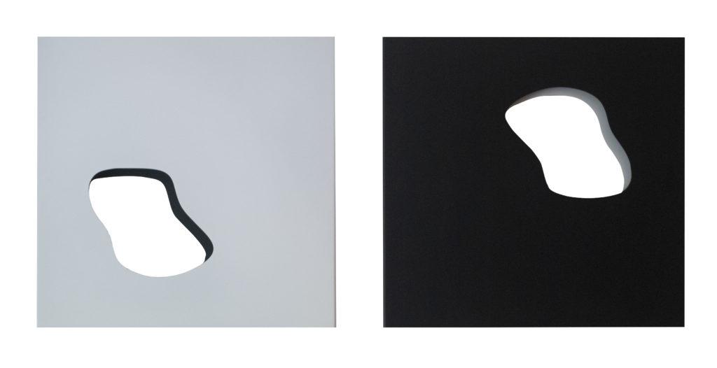 Geometria organica duo blanco y negro