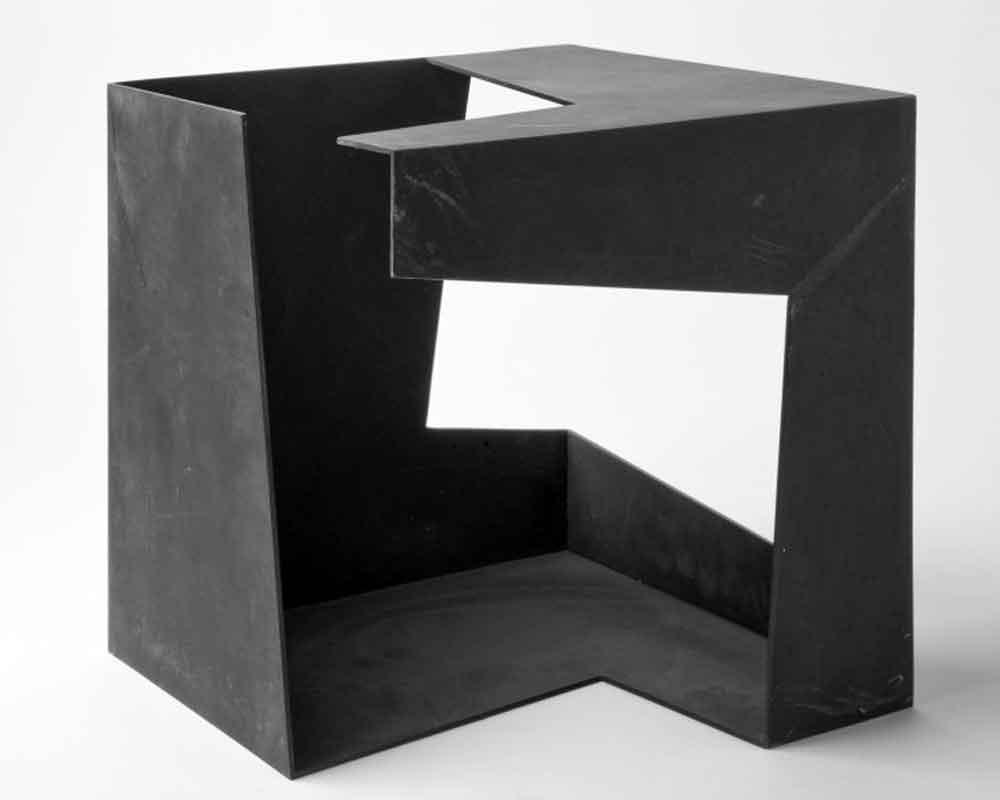Jorge Oteiza(Orio, Guipúzcoa, 1908 - San Sebastián, 2003) Caja metafísica 1958 Hierro 30 x 30 x 30 cm. Museu Fundación Juan March, de Palma